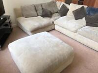 L shaped sofa suite