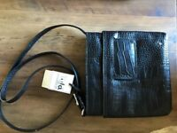 Leather cross body bag new with tags