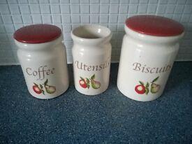 3 piece Kitchen set- Coffee, Biscuit and Utensils