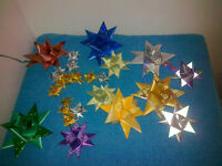 Handmade Christmas Hanging Stars and Baubles