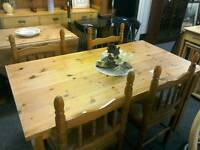Pine table and 4 Chairs #27400 £75