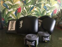 16oz Boxing gloves & 180cm Hand wraps