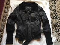 Only ladies bike leather jacket size 36s/8 £10