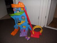 fisher price little people car tower and cars