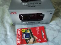 JVC GZ-HM30 HD FLASH MEMORY CAMCORDER ( NEW- SEALED BOX ) - ( SILVER ) + FREE 16GB MEMORY CARD.