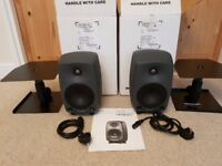 GENELEC 8030A BI-Amplified Studio Monitors Immaculate + Free Quality Stands