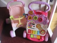 2 baby walkers. Vtech and Fisher Price
