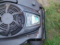 PETROL LAWNMOWER , HAYTER HARRIER 48, ECO, WITH DRIVE AND ROLLER, GRASS BOX.