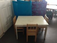 Children's table and 4 chairs from IKEA