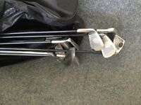 Brand new full golf club set including clubs, bag and accessories