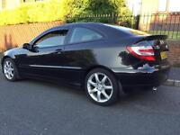 2007 Mercedes c180 compressor coupe mot sept full leather top of the range cheap car new model
