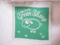 Crib-sized bedding set, Little Green Sheep organic cotton - 4 items