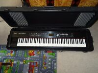 ROLAND RD-700NX DIGITAL STAGE PIANO WITH PEDALS, CASE AND STAND