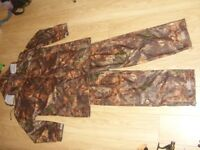 Ocean Abeko Camouflage Waterproof Windproof Jacket & Trousers Set Ideal For Fishing Hunting Size 2XL