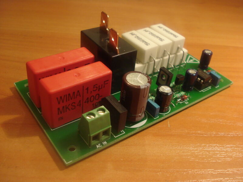 Soft-start, inrush current limiter for toroidal transformers - assembled, tested