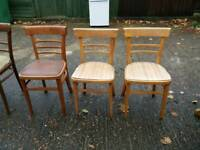 3 RETRO BEN CHAIRS WITH SEAT PADS CAN DELIVER LOCALLY