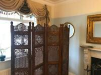 Antique ornate room divider very heavy