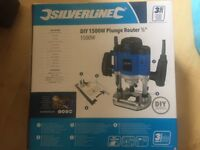 Silverline DIY 1500 W Plunge Router 1/5 inch Brand New In The Box