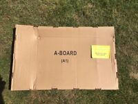 A1 Aboard Pavement Poster Display Stand - New Unused