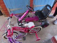 Child's Go Cart & Bike 3 - 6 Years