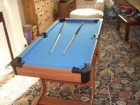 childrens pool and tennis table