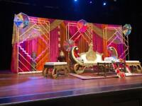 Mehndi Stage / Floral Asian Wedding Stage / Marquee call 07584569103