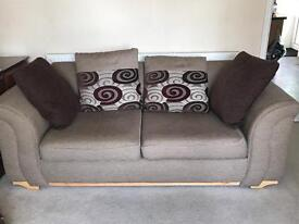 2 seater sofa and cushions
