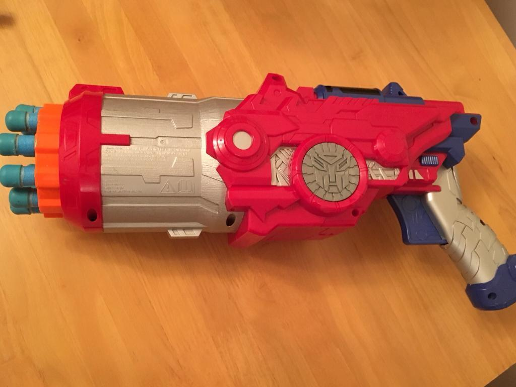 Transformers 3 Ultimate Optimus Prime Cyber Blaster Toy Nerf Gun