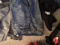 jeans mens skinny size 32 waist 30 -32 L several pairs