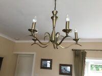 Brushed gold chandelier