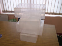 9 clear shoe storage boxes