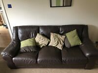 2 Leather Sofas, Good Condition