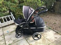 Oyster Max 2 - 2x Slate Grey Seat 1x Carrycot Foot Muffs and Raincovers