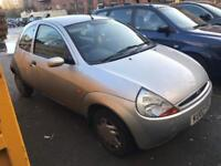 02 plate - Ford KA - 1.3 petrol - one year mot - warranted low 54K miles - clean example