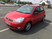2005 FORD FIESTA 1.4 DIESEL 5 SPEED MANUAL, LOW MILEAGE, FULL LEATHER INTERIOR, 1 YEAR MOT 2 OWNERS.