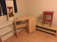 Desk, bookcase, table, tv stand and mirror- ONLY £79.99 (originally +245 before tv stand!!!)
