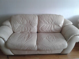 Sofa leather + 2 armchairs
