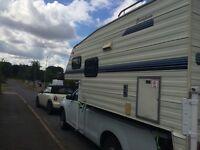 Pickup camper van for single cab truck