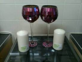 Goblets mosaic candles
