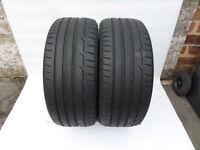 2x 225/40/18 Dunlop Sport Maxx RT 92Y a pair (6mm of tread) 2x 225 40 18