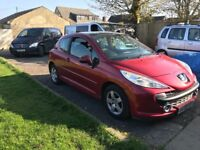 Peugeot 207 1.4 . 08 plate needs attention