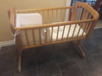 Mothercare Swinging Crib Complete With Matress