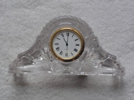 Lead Crystal Miniature Clock. Excellent condition