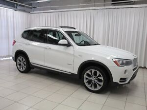 2017 BMW X3 28i x-DRIVE w/ HEATED LEATHER FRONT & REAR, PANO R
