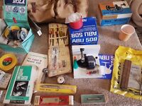 vintage fishing kit inc 4 boxed reels abu 508 lot local collection