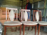 Dark wood table & chairs mint condition