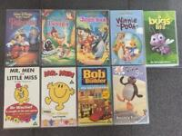 9 Kids movies - VHS tapes