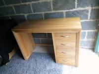 Bevel solid oak dressing table from Oak Furniture Land