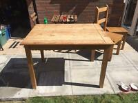 Rustic mexican oak dining room table