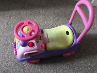 Pink ride on toy car